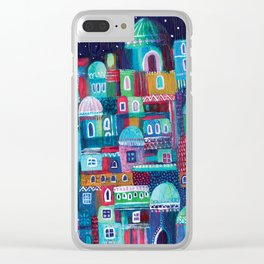 Mosaic City Clear iPhone Case