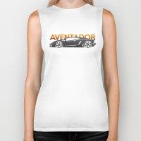 lamborghini Biker Tanks featuring Lamborghini Aventador by Vehicle