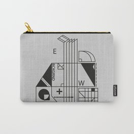 monochrome minimalism Carry-All Pouch