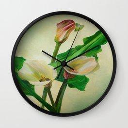 Three Calla Lilies Wall Clock