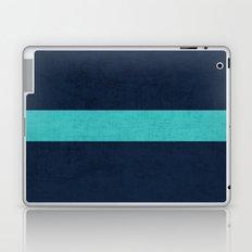 classic - navy and aqua Laptop & iPad Skin