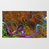 new orleans Area & Throw Rugs featuring new orleans by donphil