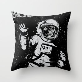 BOO !! Astronaut Skeleton Science Shirts Throw Pillow