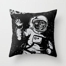 BOO !! Astronaut Skeleton Science Shirts Throw Pillow