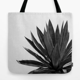 Agave Cactus Black & White Tote Bag