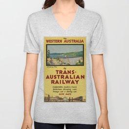 Vintage poster - Western Australia Unisex V-Neck