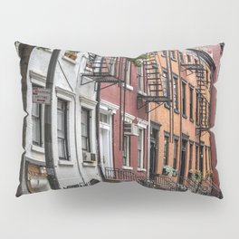 Picturesque street view in Greenwich Village, New York Pillow Sham