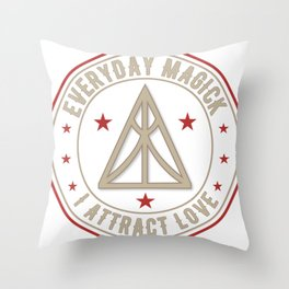 I Attract Love activated magickal sigil valentines day shirt gift Throw Pillow