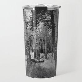 Aspens in Black and White Travel Mug