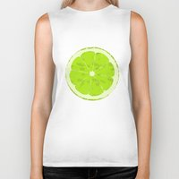 lime Biker Tanks featuring Lime by Avigur
