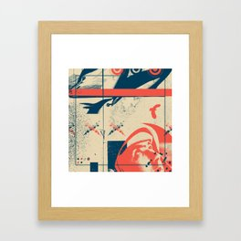 Fragments Tile 3/12 Framed Art Print