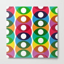 Geometric Pattern 64 (colorful bubbles) Metal Print