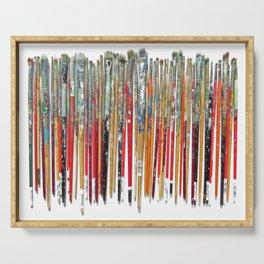Twenty Years of Paintbrushes Serving Tray