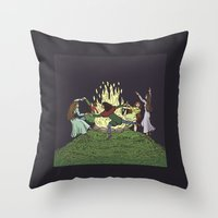 kindle Throw Pillows featuring Fairy Dance by Richard Fay