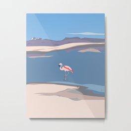 Flamingo in Chile, Atacama Desert Metal Print