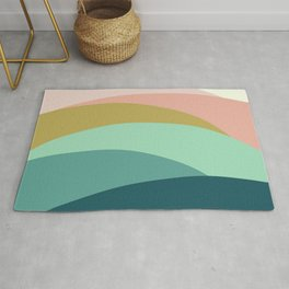 Abstract Mountains Rug