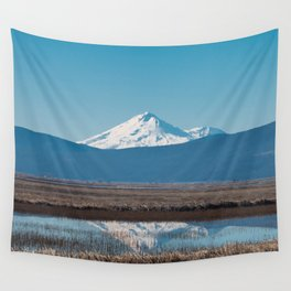Mt Shasta Reflection Wall Tapestry