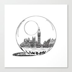 London in a glass ball Canvas Print