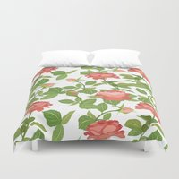 roses Duvet Covers featuring Roses by Julia Badeeva