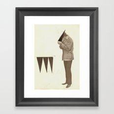 Triangle Addict Framed Art Print
