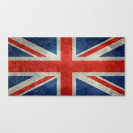 British flag of the UK, retro style Canvas Print