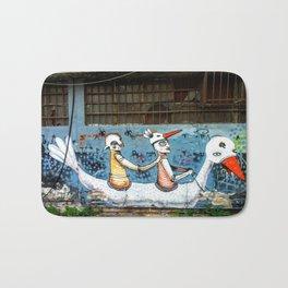 Tel Aviv Street Art / Klone / Swan Bath Mat