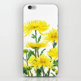 Yellow Chrysanthemums iPhone Skin
