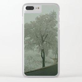 Winter Landscape - Austria Clear iPhone Case