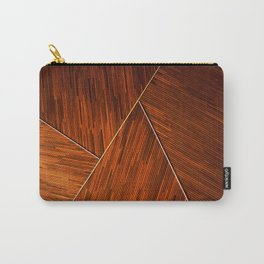 Geometric Grain Carry-All Pouch