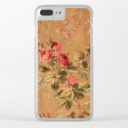 Vintage Floral Pattern Clear iPhone Case
