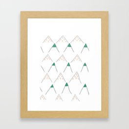 Jewel Mountains Framed Art Print