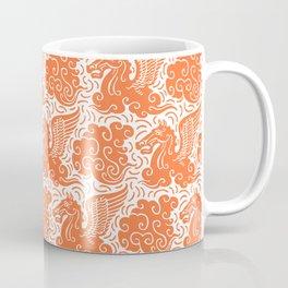Pegasus Pattern Orange Coffee Mug