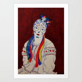 Skullcandy Ethnic Lady Art Print