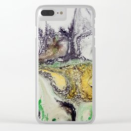 Weather cyclone, acrylic on canvas Clear iPhone Case