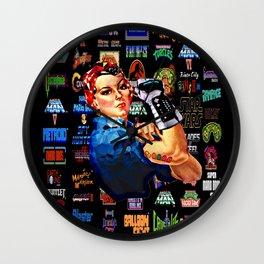 Power glove Wall Clock