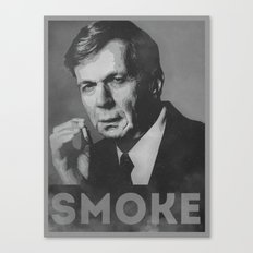 Smoke! Funny Obama Hope Parody (Smoking Man)  Canvas Print