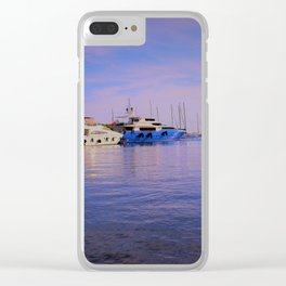 Man on Tito's Beach Clear iPhone Case