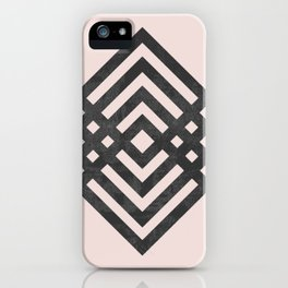 Geometric loop iPhone Case