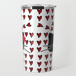 Love love cat Travel Mug