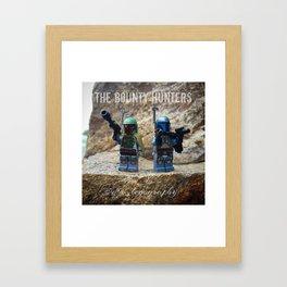 The Bounty Hunters - Jango & Boba Fett Framed Art Print