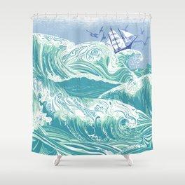Sea Fever Shower Curtain