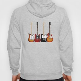 Four Electric Guitars Hoody