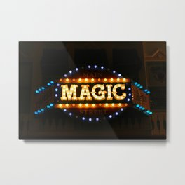 Main Street Magic Shop Marque (Nighttime No. 2) Metal Print