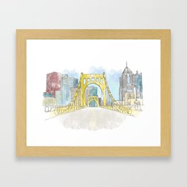 Roberto Clemente Bridge Framed Art Print