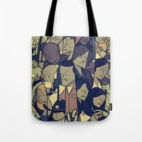 walking dead Tote Bags featuring The Walking Dead by Ale Giorgini