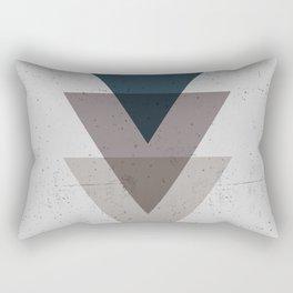 Geometric Trinangle Tangle Rectangular Pillow