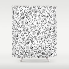 Zelda A Collection of Items Pattern Shower Curtain