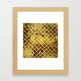 gold plated Framed Art Print
