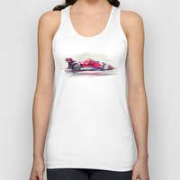 racing Tank Tops featuring racing car2 by tatiana-teni