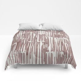 Simply Bamboo Brushstroke Red Earth on Lunar Gray Comforters